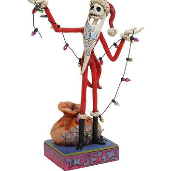 The Nightmare Before Christmas Santa Jack With Christmas Lights Resin Figurine