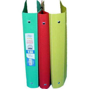 1 Inch 3 Ring Binder in Assorted Colors