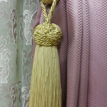 Curtain Accessories - Macrame Curtain Accessories - Gold Leaf Accessories - F711