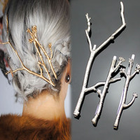 Set of 3 Branch/Twig Hair Clips   -   New