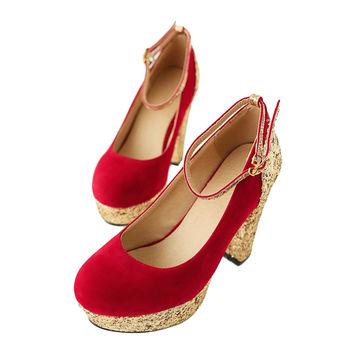 Bridesmaid Wedding Women Shoes  red