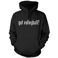 got volleyball? Funny Hoodie, Black, Small