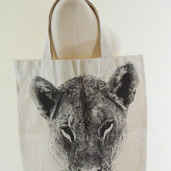 Tiger Bag Lion Bag - Tiger Canvas Bag Tote Bag Animal Bag Shopping Bag Market Bag Funny Bag Teen Girl Women Chic Fashion Bag