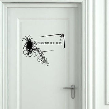 Wall Mural Vinyl Decal Sticker Sign Door Frame Personalized Text Name AL296