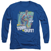 SAVED BY THE BELL/TIME OUT-L/S ADULT 18/1-ROYAL BLUE