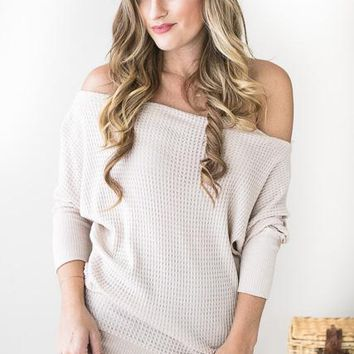 Off Shoulder Heaven Top- Cream
