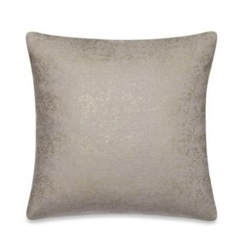 Kenneth Cole Reaction Home Shade Printed Metallic Square Toss Pillow in Gold