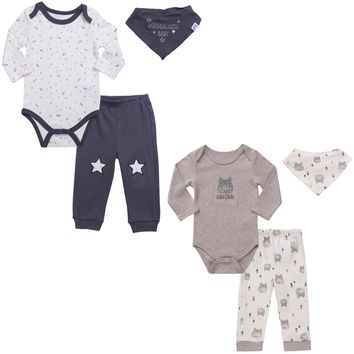6 Pc Twin Boys Outfit Set
