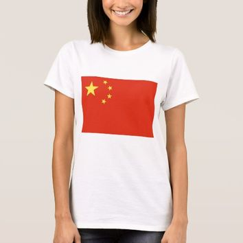 Women T Shirt with Flag of China