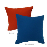 American Mills 33082.640 Solid Red 16x16 Indoor/Outdoor Pillows, Set of 2