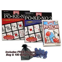 Pokeno Super Pack Including Pokeno 2 Too and 300 Extra Blue Bingo Chips and FREE Storage Bag