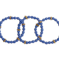 Akola Project Blue Beaded Bracelet Set