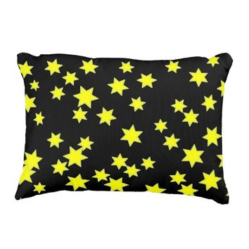 Yellow Stars Decorative Pillow
