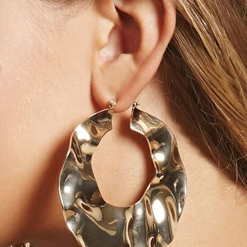 Oversized Hammered Hoops