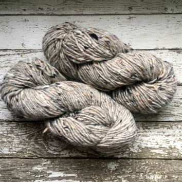 Reynolds Tipperary Tweed Irish Wool Yarn Light Gray Grey Ireland