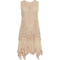 Hand-embroidered lace dress - Haute Hippie - Polyvore