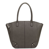Grayson Faux-Leather Tote Bag, Gray - Neiman Marcus