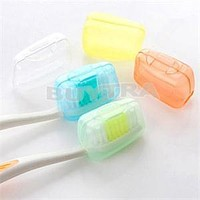 5Pcs Tooth Care Portable Toothbrush Travel Case Holder Protect Teeth Brushes Head Cover Camping Hiking Storage Box