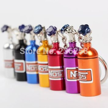 Lot 10 x Turbo NOS Nitrous Oxide Bottle Key Chain Keychain Keyring Stash Pill Box Storage
