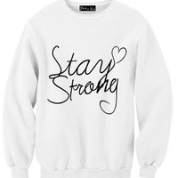 Stay Strong Sweatshirt | Yotta Kilo