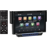 """BOSS AUDIO 7"""" Single-DIN In-Dash Drop-Down DVD/MP3/CD & AM/FM Receiver with Blue"""