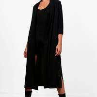 Isabella Turn Up Cuff Duster Coat | Boohoo