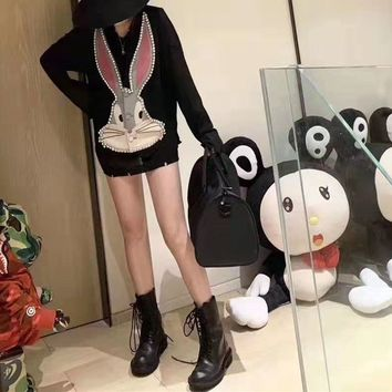 """""""Gucci""""Women Fashion Bugs Bunny Solid Color Embroidery Diamond Sleeveless Cotton-padded Clothes Vest Jacket Coat"""