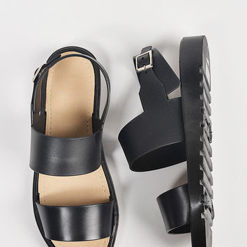 Double Banded Slingback Jelly Sandals