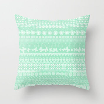 Minty-Licious Throw Pillow by Shawn Terry King | Society6