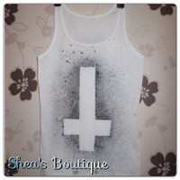 Inverted Cross Tank Top by SheaBoutique on Etsy