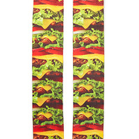 Burger Print Crew Socks