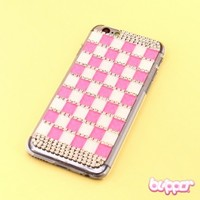 Checkered Jewel Protective Cover for iPhone 6