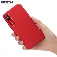 For iPhone X Case, ROCK Luxury Business Style Metal Phone Camera Protection Transparent Case For iPhone X Cover