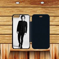 Harry Styles Black And White iPhone 6s plus  Flip Case Sintawaty.com