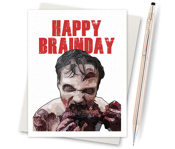The walking dead card zombie birthday from