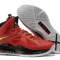 air max lebron 10 x red and black gold medal mens basketball shoes online