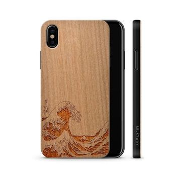 Wood  - Great Wave Off Kanagawa Phone Case