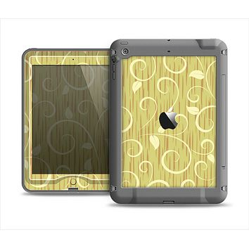 The Light Green Curley Vines Apple iPad Mini LifeProof Nuud Case Skin Set