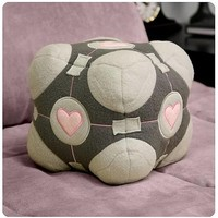 Portal Weighted Companion Cube Plush - NECA - Portal - Plush at Entertainment Earth