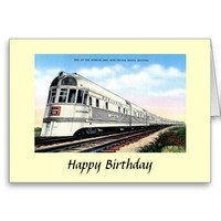 Birthday Card - Burlington Route Zephyr