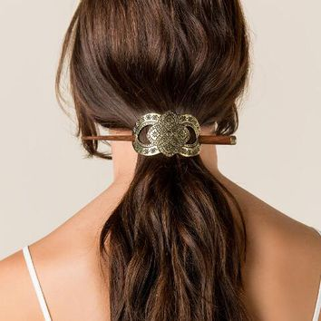 Bronze Cuff & Stick Hair Pin