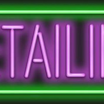 """Detailing Real Glass Tube neon sign LIGHT Handcrafted Automotive signs Shop Store Business MAN CAVE BAR GAS OIL 17""""x14"""""""