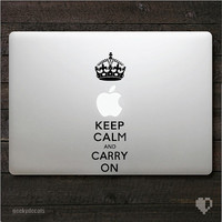 Keep calm and carry on Macbook Decal / iPad Decal