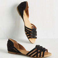 Temple of the Swoon Flat in Black | Mod Retro Vintage Flats | ModCloth.com