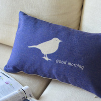 Good Morning Cotton and Linen Cushion