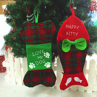Merry Christmas ornaments Christmas Gift Bag Hanging Socks Christmas tree decoration