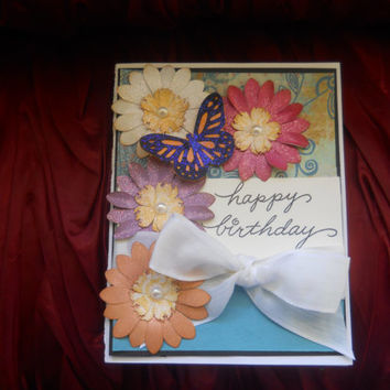 Happy Birthday Card -Butterfly Kissed Birthday Card