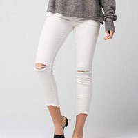 FREE PEOPLE Destroyed Ankle Womens Skinny Jeans | Ankle