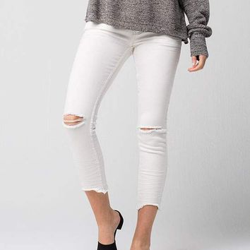 FREE PEOPLE Destroyed Ankle Womens Skinny Jeans   Ankle