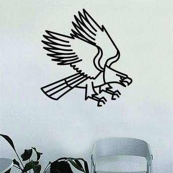 Eagle Traditional Tattoo Wall Decal Home Decor Art Bedroom Room Sticker Vinyl Animals Birds Nursery Kids Baby Teen America